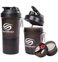Шейкер 3-х камерный SmartShake Original 600 мл neon black