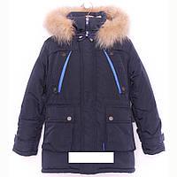 Зимняя детская подросток курточка парка для мальчика Марк
