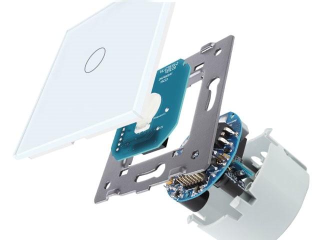 Обновленный механизм Сенсорный выключатель Livolo на 1 линию 1 модуль Белый VL-C701-11