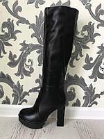 Женские демисезонные сапоги на каблуках  р.35-41