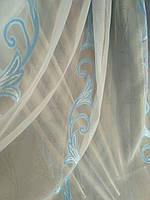 Тюль шифон голубая лилия
