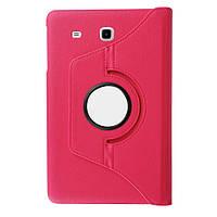 Кожаный чехол-книжка TTX (360 градусов) для Samsung Galaxy Tab E 9.6 SM-T560 (Розовый)