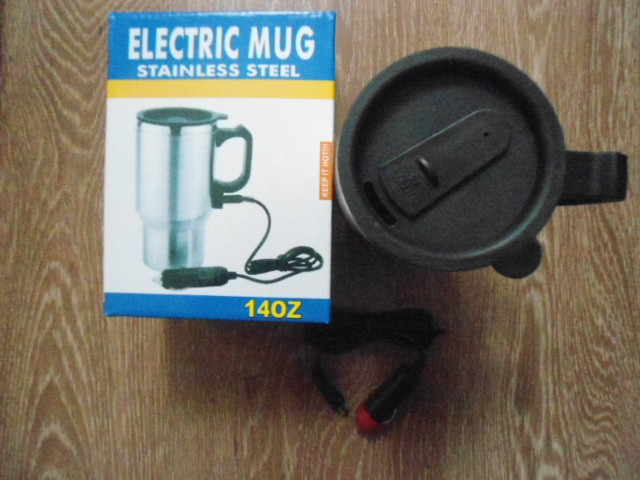 Термокружка в авто термо кружка чашка автомобильная 400мл с подогревом от прикуривателя