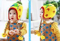 Шапочка зимняя детская утепленная мехом
