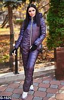 Зимний спортивный костюм батал , цвета баклажан. Арт-10142
