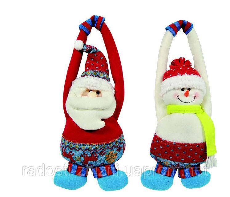 Подвеска Дед Мороз и Снеговик 27 см