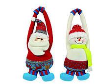 Подвеска Дед Мороз и Снеговик 27 см , фото 1