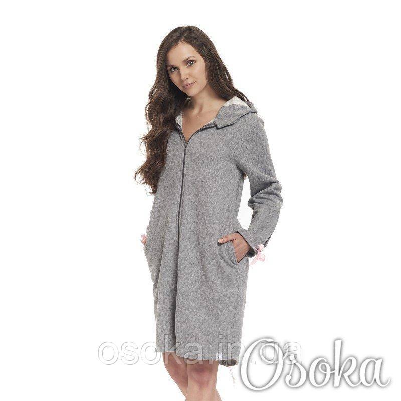 a344c3e6e267 Стильный женский халат на молнии Dobranocka (Добраночка) 9354 -  Интернет-магазин