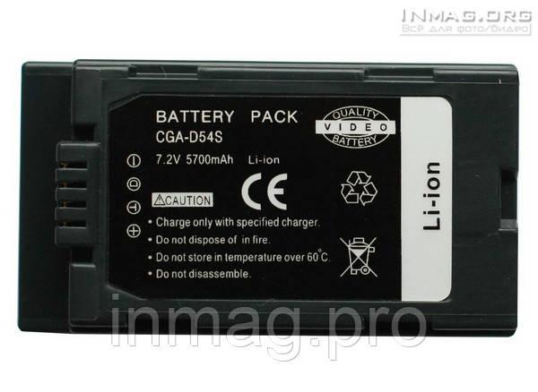Аккумулятор Alitek для видеокамеры Panasonic CGA-D54S / CGR-D54S, 5400