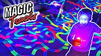 Детская игрушечная дорога - конструктор Magic Tracks 165 деталей, Светящаяся гибкая гоночная трасса, В наличии