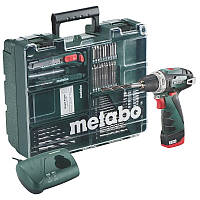 Аккумуляторный шуруповерт/дрель Metabo PowerMaxx BS Mobile Workshop, 0-360/0-1400 об/мин, 10,8 В, 34/17 Нм, 1 Li-ion  аккум 2 Ah, з/у, 0.9 кг,