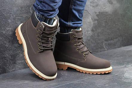Мужские зимние ботинки Timberland коричневые,на меху  продажа, цена ... fe97da11779