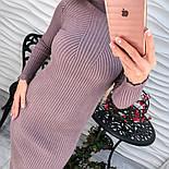 Женское модное платье на осень теплое (5 цветов), фото 3