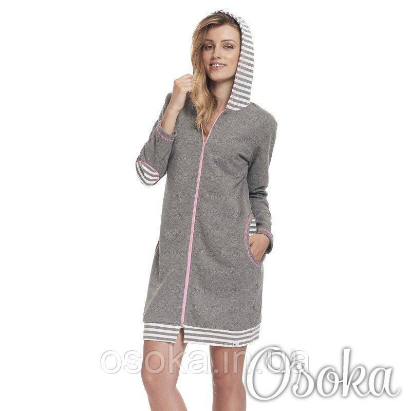 Молодежный трикотажный халат с капюшоном Dobranocka (Добраночка) 9395