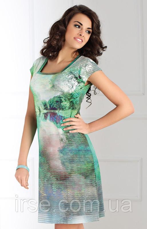 a54dedf7a63 Летнее женское платье зеленого цвета с рисунком. Модель Alette Top Bis -  Irse в Одессе