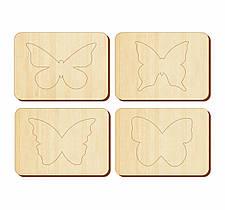 Трафареты «Бабочки», 100*140 мм, 063108