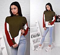 Женский вязаный свитер Квадрат, женские вязаные свитера оптом