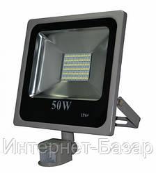 Прожектор светодиодный 50Вт FLOOD50XPS с сумеречным датчиком и сенсором движения