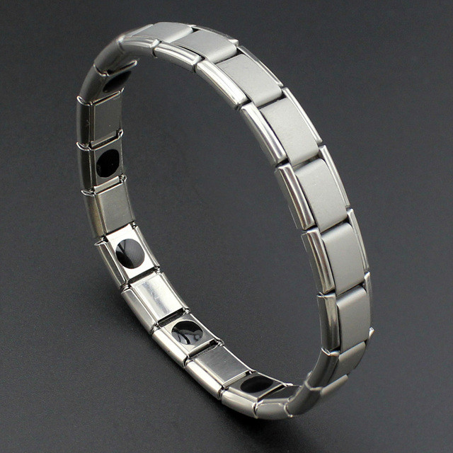 Турмалиновый браслет чоловічий, металічний з турмаліном