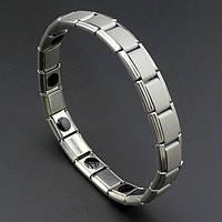 Турмалиновый браслет чоловічий, металічний з турмаліном, фото 1