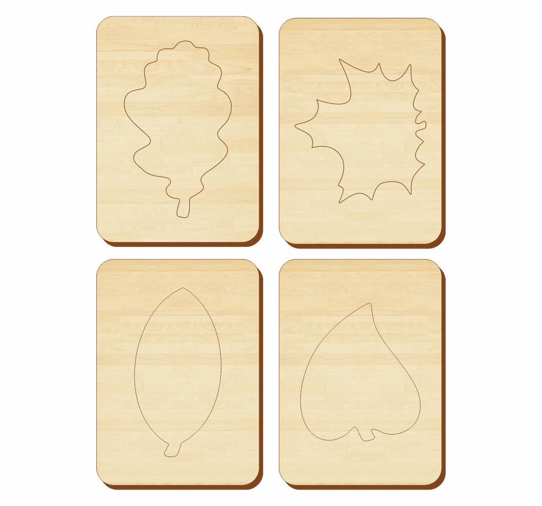 Трафарет «Листья», 100*140 мм, 063104