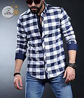 Рубашка мужская утепленная, кашемир с длинным рукавом Rubaska