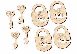 Замочки и ключики, набор 3, 063203