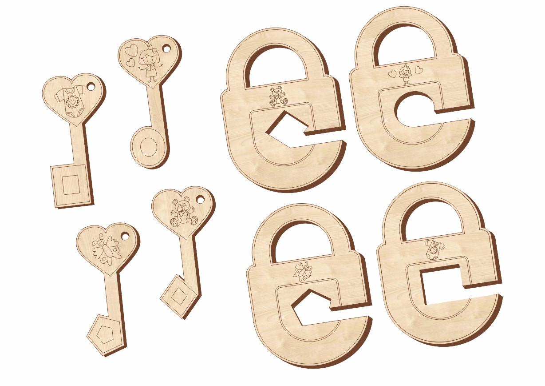 Замочки и ключики, набор 2, 063202