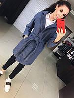 Модное, женское, кашемировое пальто классического кроя с поясом. Осень-Весна. РАЗНЫЕ ЦВЕТА ФАБРИЧНЫЙ КИТАЙ