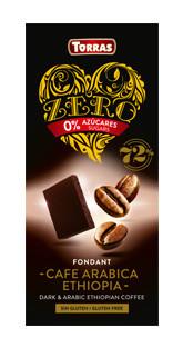 Черный шоколад без  сахара Torras ZERO with Arabic Coffee с  кофе 100 г