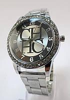 Часы наручные CHHC, Стразы, Цинковый сплав(Без кадмия), Браслет Железный, Стразы, Серебро, длина 20.5cm