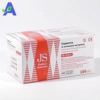 Салфетки спиртовые JS 30*65 мм 100 штук в упаковке, фото 1