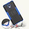 Чехол накладка для Lenovo P2 P2a42 противоударный с подставкой, Синий, фото 3