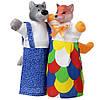 Кукольный театр набор из двух кукол-рукавичек Лисица и ВолкВ078/076