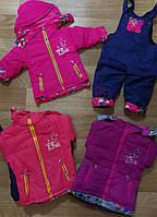 Куртка+комбинезон утепленные для девочек Cross Fire оптом, 12-36 мес.