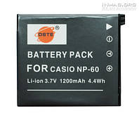 Аккумулятор для фотоаппарата Casio NP-60, 1200 mAh.
