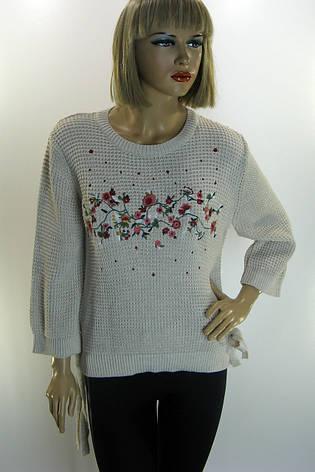 Жіночий светр з вишивкою Park hande, фото 2