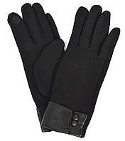 Женские трикотажные перчатки с сенсорными пальчиками на плюше