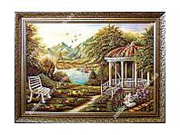 """Картина из янтаря  """"лоси"""" 30х40 см"""