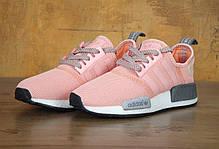 Женские кроссовки Adidas NMD R1 Pink\Grey, фото 3