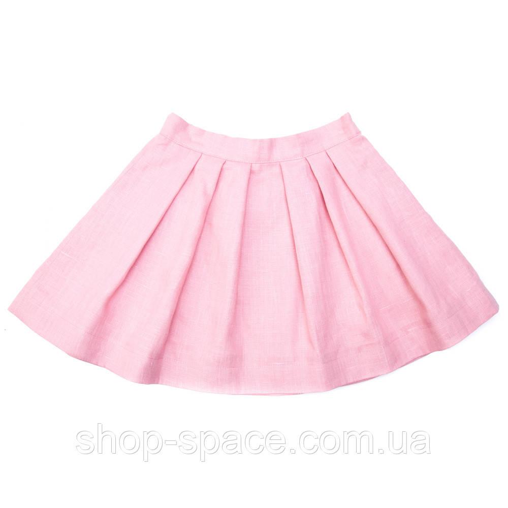 Юбка льняная Miracle Me розовая