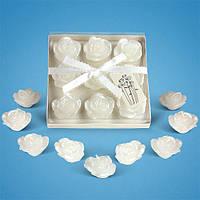 Свадебные свечи розочки на воду (в наборе)