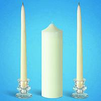 """Свадебные свечи """"Семейный очаг"""" белые"""