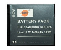 Аккумулятор для фотоаппарата Samsung SLB-07A, 1400 mAh.