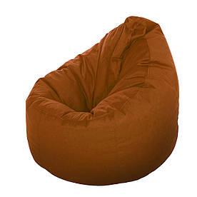 Кресло-мешок Груша XXL шоколадного цвета