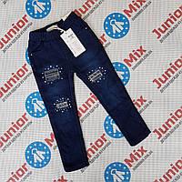 Теплые котоновые детские брюки для девочек оптом