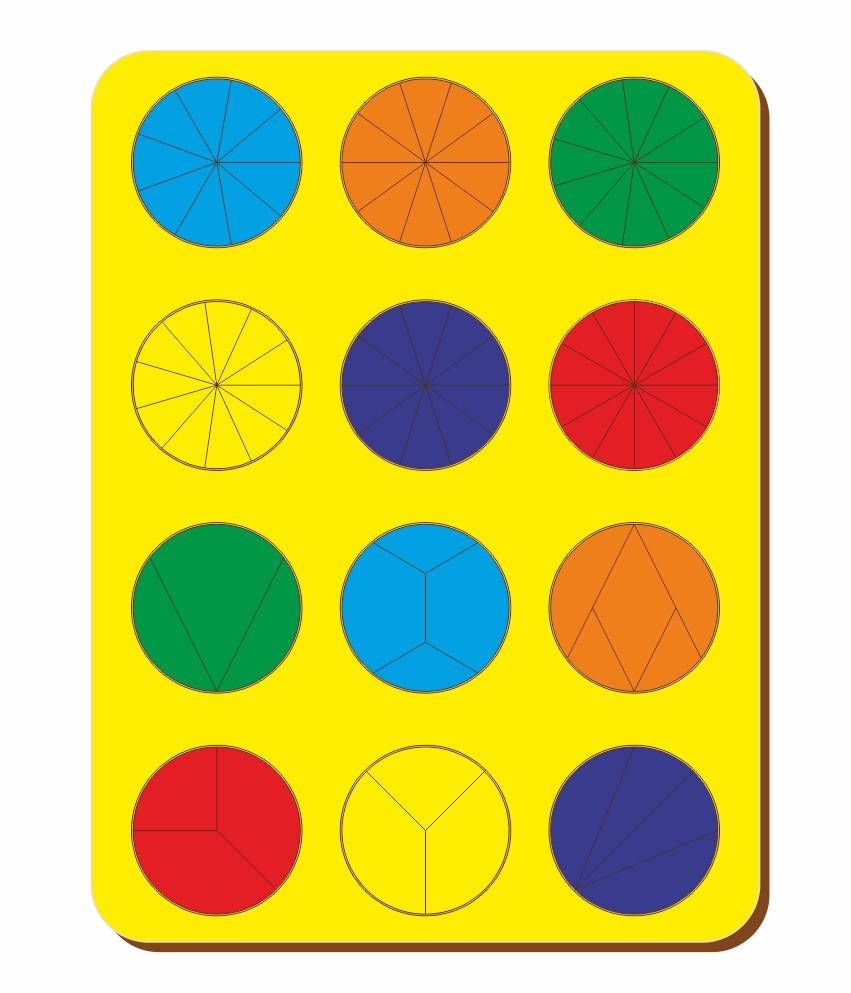 Дроби, Б.П.Никитин, 12 кругов, ур.2, 300*240 мм, 061302