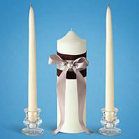 """Свадебные свечи """"Семейный очаг"""" белые  (в наборе)"""