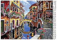3172 Схема на ткани для вышивки бисером   Венецианская уличка