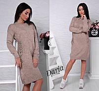 Вязаное платье со шнуровкой разных цветов, женские вязаные платья оптом от производителя